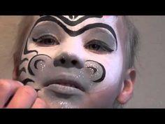Kinderschminken Zebra Basteln mit Kindern - Schminkspaß für Kids - YouTube