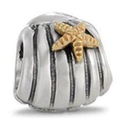 Pandora Style Seashell Charm Bead. Great for any European bracelet!