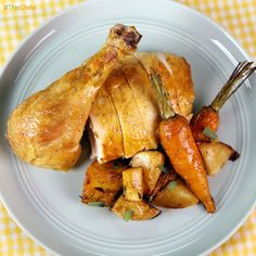 Roast Chicken with Tarragon Vegetables by Michael Symon! #TheChew
