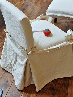 DIY DROP CLOTH SLIPCOVERS VIA Isabella & Max Rooms