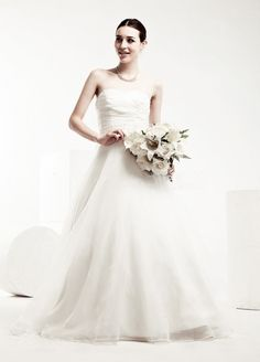 Princess A-Line Organza Wedding Dress with Beaded Belt $208.98