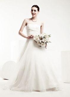 Princess A-Line Organza Wedding Dress with Beaded Belt $208.98