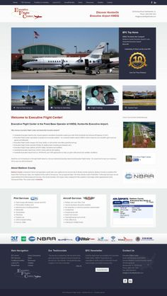 Custom #webdesign for Executive Flight Center in Meridianville/Huntsville, Alabama. Specializing in FBO services for aircrafts and pilots. Built with #Joomla 3 #CMS and fully #responsive with #Bootstrap framework. #clean #corporate webdesign