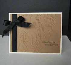 flower emboss, sympathy cards, manhattan flower, sympathi card