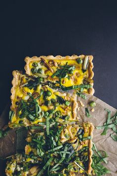 loaded spring vegetable quiche.