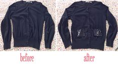 Simple DIY Sweater Refashion