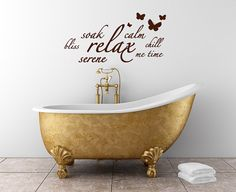 Relax calm butterfly bathroom wall bath panel by 60SecondMakeover, £11.99
