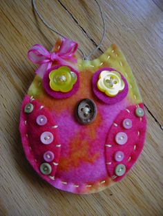 Felt Owl hanging ornament wall hanging gift tag by longvalleybears570 x 760 | 127.2KB | www.etsy.com