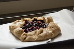 blackberry galette with olive oil pastry | london bakes
