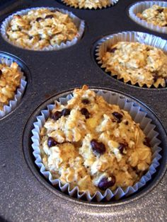 Banana oatmeal chocolate chip muffins