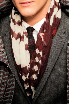 Probably one of the best man scarfs I've seen in a while...