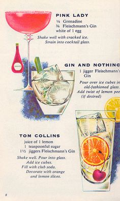 Completely classic cocktail recipes served up 1960s style. #food #drinks #recipes #vintage