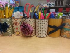 Cans for Teacher Gifts