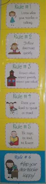"""Whole Brain Teaching Posters. I substituted """"clean up your area"""" for rule #3 and """"make smart choices"""" for rule #5."""