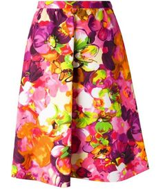 Valentino floral a-line skirt