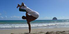 Chris ('Ninja') doing Capoeira on the beach in Martinique