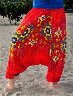 Harem Pants For Women   Colorful Thai harem pants for women. One size fits all. The width of ...