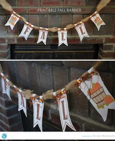 Silhouette America Blog | DIY Fall Banner Tutorial | Using the FREE Shape of the week