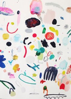 Untitled, 2014 mixed media on paper. Kindah Khalidy.