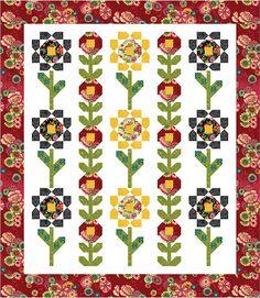 Flower Drops Free Quilt Pattern