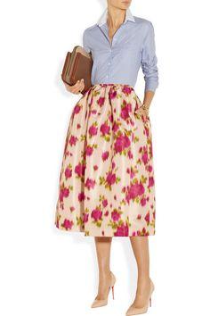 faill skirt, midi skirts, fashion, floral skirt, cloth