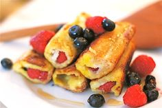 Rethink Breakfast with Berry Amazing French Toast Roll-Ups