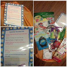 End of Year Gift: Summer Survival Kit for Pre-K Graduates