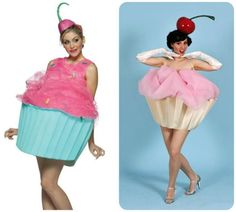 Dress up as a cute cupcake, with a cherry on top! #halloween #cupcake #cute #costume
