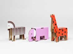 Present&Correct - Cardboard Zoo