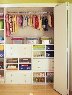 Organized Kids Closets