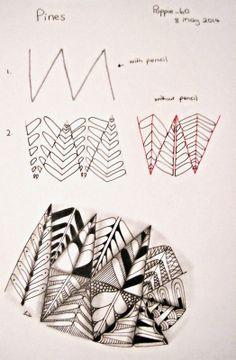 Pines~ Poppie_60 Zentangles