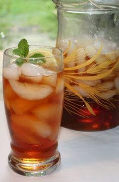 Mint infused iced tea