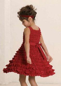 Biscotti Red Ruffle Princess Dress $112