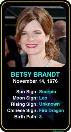 Celeb #Scorpio birthdays: Betsy Brandt's astrology info! Sign up here to see more: https://www.astroconnects.com/galleries/celeb-birthday-gallery/scorpio?start=120 #astrology #horoscope #zodiac #birthchart #natalchart #betsybrandt #breakingbad