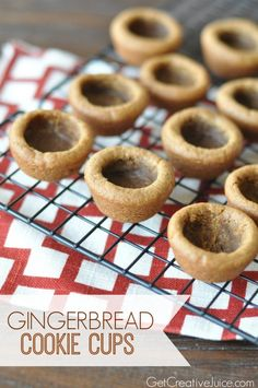 Gingerbread cookie cups tutorial