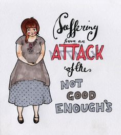 don't let anyone make you feel like you're 'not good enough'. (drawing by Natalie Perkins) #1in10pcos