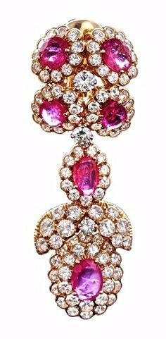 Ruby & Diamond Earring By David Webb