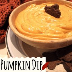 Pumpkin Dip Recipe that takes under 10 mins to whip up! Great for a Thanksgiving treat, gatherings or a bonfire snack!