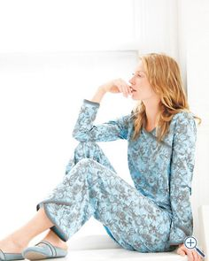 Warm, comfy Asian Wrap Pajamas for long nights.  #DreamDormRoom #GarnetHill #LillyPulitzer