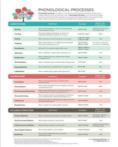 phonological processes chart