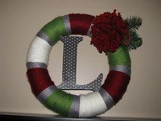 easy holiday wreath:-)