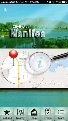 """The Menifee California mobile App. Search """"citybyapp"""" or """"Menifee"""" in the App Store or Google Play store. It's free!"""
