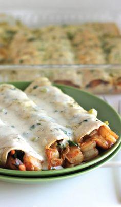 Fire Roasted Shrimp Enchiladas