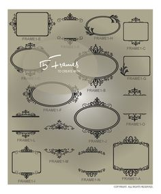 Decorative Vector Borders & Frames for Vinyl Graphics