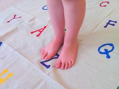 Alphabet Stomp Mat - An active way to work on ABC's