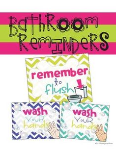 FREE Bathroom Reminders