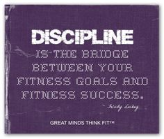 #Purple Poster for #Fitness #Motivation - with a #discipline #quote