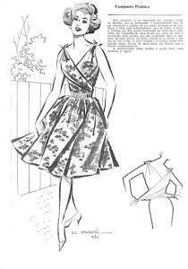 Free Vintage 1950s Dress Sewing Draft Pattern / Tutorial