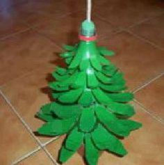DIY Plastic Bottle Christmas Tree
