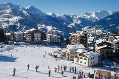 Skiing in the Alps...